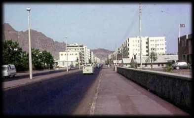 مدخل شارع مدرم بالمعلا من جهة مبنى المحافظة