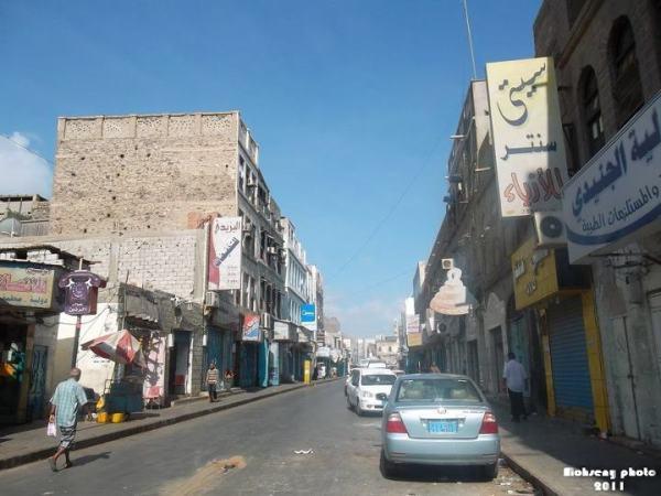 شارع الزعفران في سوق كريتر ــ عدن